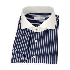 modern tailor p105 navy blue black and white stripes dress shirts