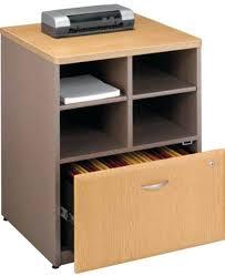 Printer Storage Cabinet Printer Cabinet With Storage Bush Series A Light Oak Storage