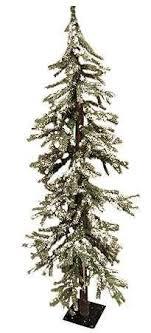 5 flocked alpine tree 200 clear ls trees
