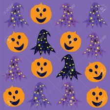 halloween purple and orange background halloween background cute vector illustration royalty free