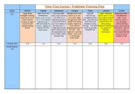 time trial annual training plan