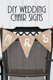 wedding chair signs mr and mrs wedding chair signs the country chic cottage