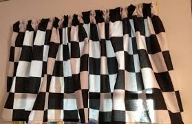 Window Curtains Amazon by Amazon Com Window Curtain Valance Made From Racecar Checkered