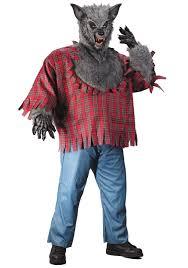 Red Shirt Halloween Costume Gray Size Werewolf Costume