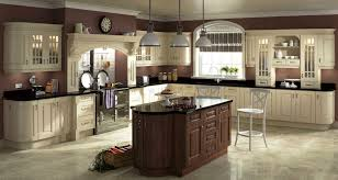 recycled countertops cream colored kitchen cabinets lighting