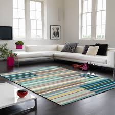 Modern Stripe Rug by Aqua Striped Rug Roselawnlutheran