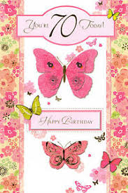 female traditional happy 70th birthday card 4 x cards to choose