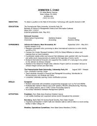 Sample Resume Format For Jobs Abroad by Sample Resume High No Work Experience