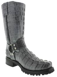mens motorcycle riding boots cowboy boots men u0027s gray crocodile tail cowboy boots square toe