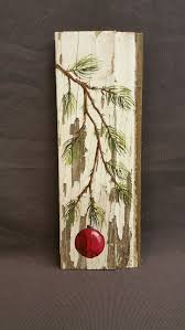 painting artwork on wood winter reclaimed wood pallet let it snow