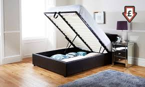 end lift ottoman storage bed groupon goods