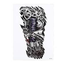 1pc waterproof temporary tattoo sticker robot machine pattern