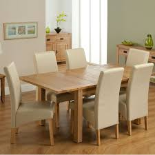 sleight white padded dining room chairs mixed brown rectangular