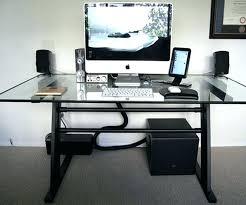 Piranha Corner Computer Desk Large Black Computer Desk Image Of Piranha Corner Glass