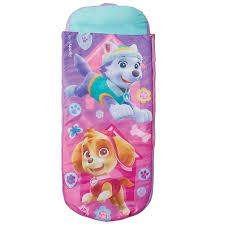 paw patrol skye junior ready bed sleepover girls kids air bed with