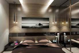 Modern Bedrooms For Men - wall mirror with lights modern bedroom designs for men bedroom