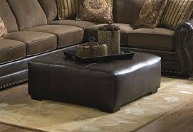 Brown Ottoman Cocktail Ottoman In Brown Leather Like Fabric By Jackson