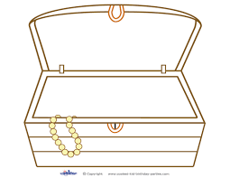incredible blank treasure chest coloring page almost different
