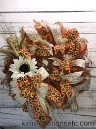 Sunflower Mesh Wreath Fall Wreath Fall Wreath For Front Door Large Fall Wreath Fall