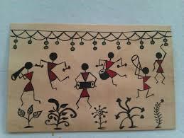 Warli Art Simple Designs 114 Best Warli Art Images On Pinterest Folk Art Paintings On