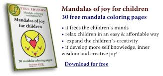 free mandala coloring pages children