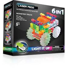 how many monster trucks are there in monster jam laser pegs 6 in 1 monster truck walmart com