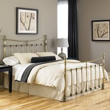 leighton iron bed in antique brass humble abode