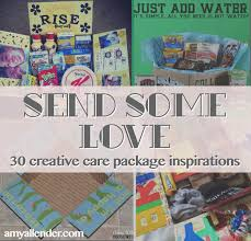 cheer up care package send some 30 creative care package ideas allender