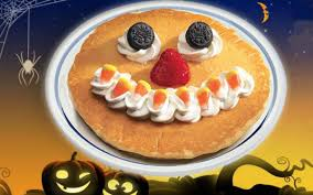 free scary face pancakes for kids at ihop on halloween sun sentinel