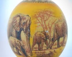 ostrich egg painted painted ostrich egg etsy