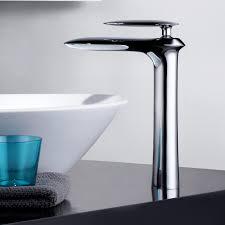 gerade tall chrome mono basin tap for countertop basin taps