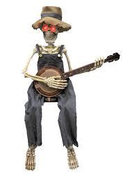 banjo playing skeleton u2013 spirit halloween halloween pinterest