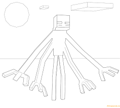 minecraft mutant enderman from minecraft coloring page free