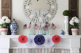 Vintage Americana Decor 4th Of July Mantle Decor By A Blissful Nest