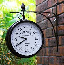 Patio Clocks Outdoor Thermometer Outdoor Garden Kensington Station Outside Bracket Wall Clock