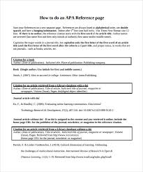references page template sle reference page template 9 documents in pdf