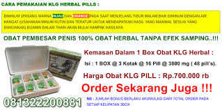 obat pembesar penis alat vital pria klg asli herbal