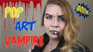 last minute halloween makeup pop art vampire last minute halloween makeup tutorial