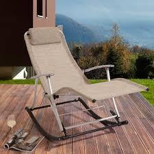 Garden Rocking Chair Uk Leisure Foldable Aluminium Beige Rocking Toblino Chair Lounger