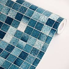 self adhesive wallpaper blue mosic blue vinyl self adhesive wallpaper prepasted wall stickers