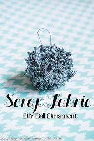 simple and easy fabric ornament