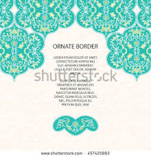 Border Designs For Birthday Cards Vintage Ornate Border Eastern Style Colorful Stock Vector