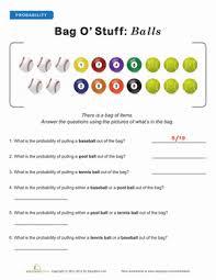 Experimental Probability Worksheet Introduction To Probability Worksheet Education Com