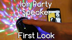 ion bluetooth speaker with lights ion party starter bluetooth speaker first look androidizen youtube