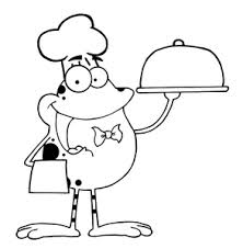 coloring pages clipart image chef frog coloring