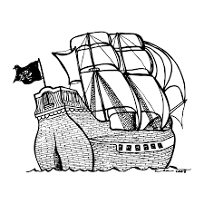 pirate ship drawing by karl addison