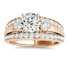 wide band engagement rings band engagement ring diamond side stones 14k gold 0 75ct