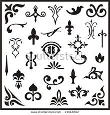ornamental design elements vector series stock vector 21791548