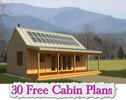 small cabin plans with porch 30 free cabin plans http www livinggreenandfrugally 30 free