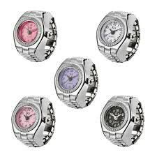 Watches For Jewelry Making New Quartz Finger Ring Watch Ladies Stainless Steel Elastic Watches